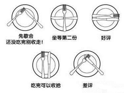刀叉摆放方式总结